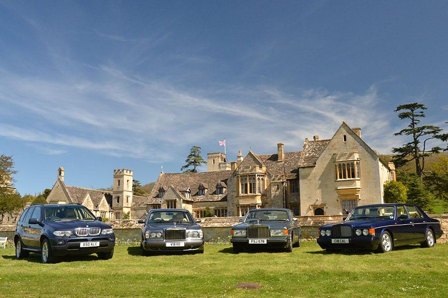 The Azure Wedding Car fleet - BMW X5, Bentley Arnage, Rolls-Royce Flying Spur, Bentley Brooklands