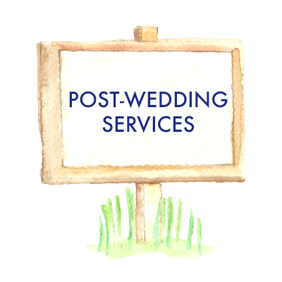 Post-wedding services