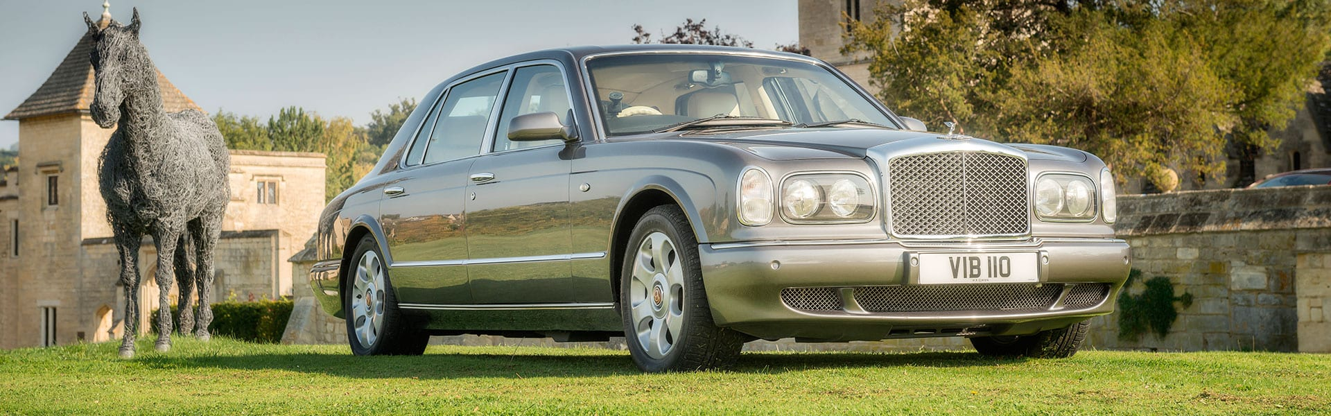 The exterior of the Bentley Arnage wedding car in grey