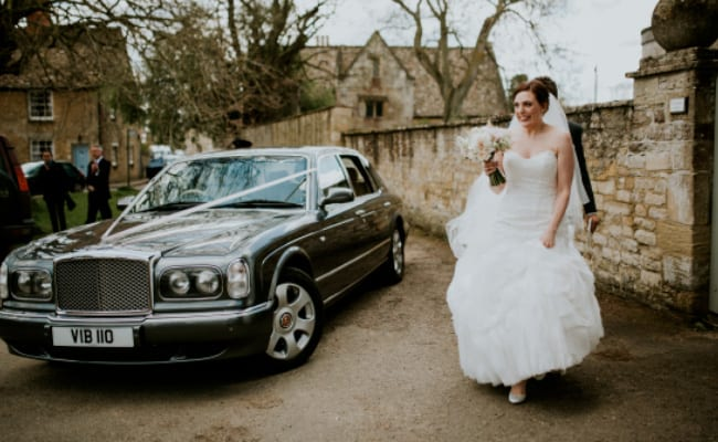 Amy with the Bentley Arnage in Bampton