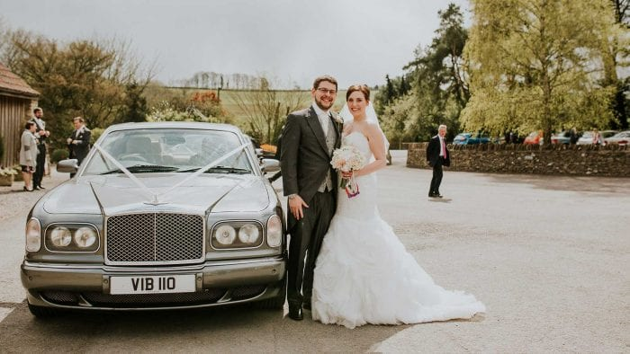 Matt and Amy with the Bentley Arnage