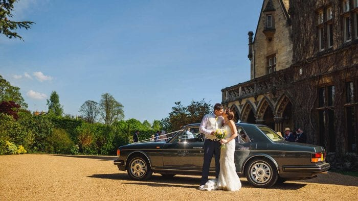 Ben and Fotulla with the Rolls-Royce Flying Spur