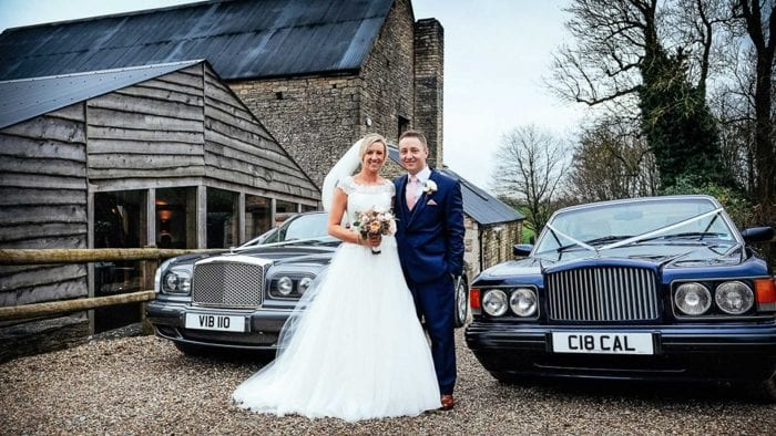 Ben and Sophie with the Bentley Arnage and Brooklands