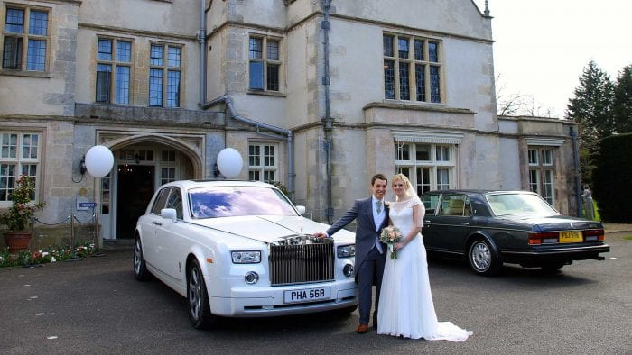 Greg and Charlotte with the Rolls-Royce Phantom