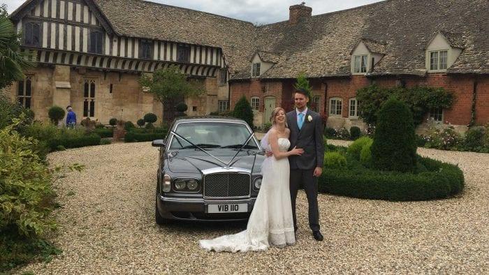 Jack and Aimee with the Bentley Arnage