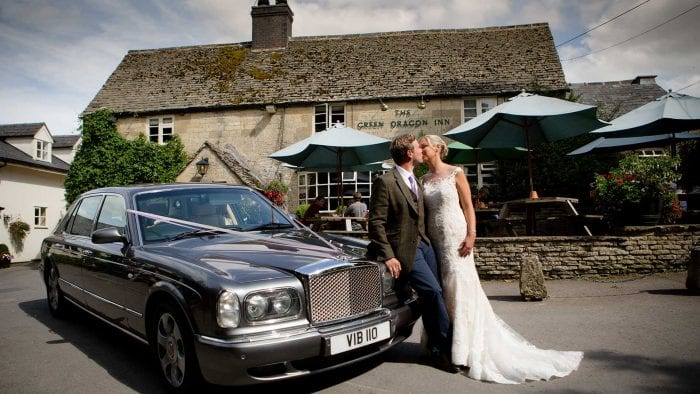 Tom and Sam with the Bentley Arnage Wedding Car