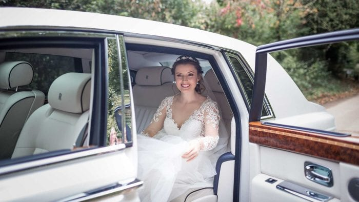 Caitlin in the Rolls-Royce Phantom